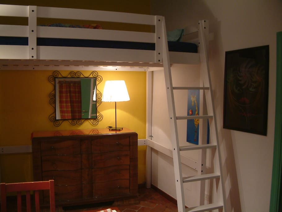 The nice room with double bunk bed