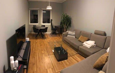 Sentral og nydelig leilighet med gratis parkering.