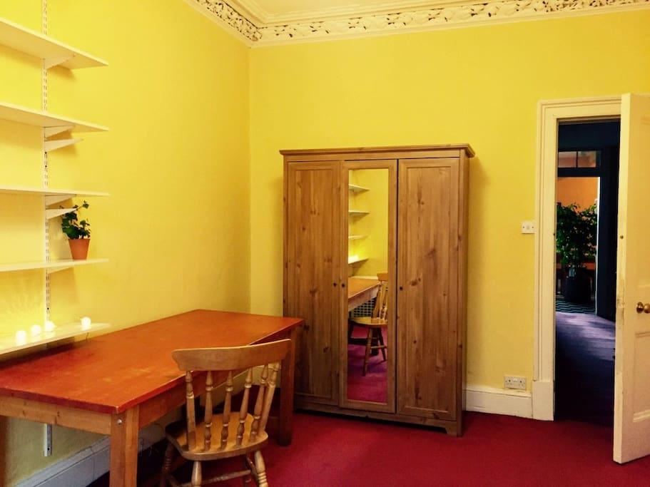 Bedroom - wardrobe with full length mirror