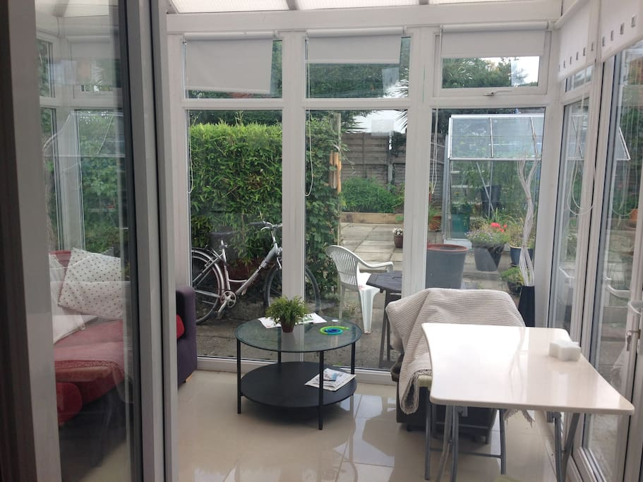 Conservatory lovely on a summers day for reading or painting