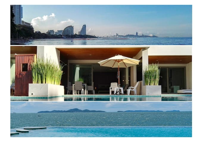 Beachfront Pool Access with Private Terrace