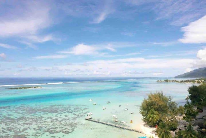 Villa Ninamu MOOREA bord de lagon