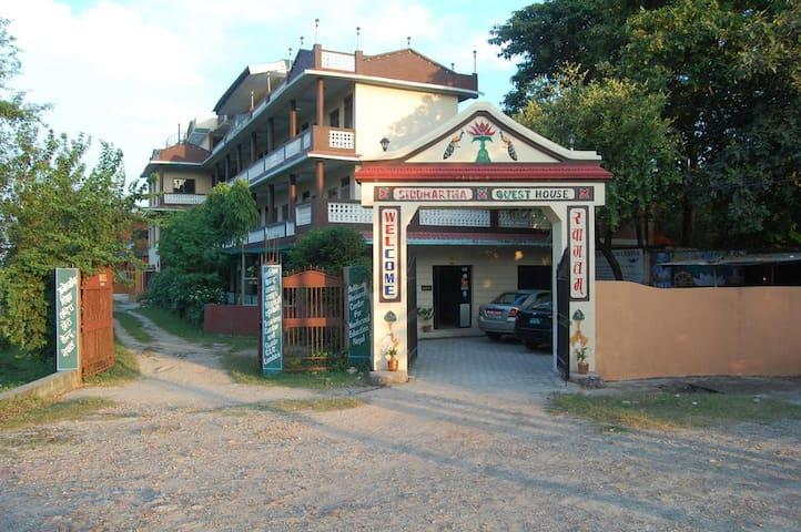 Siddhartha Guest House , Lumbini Nepal .
