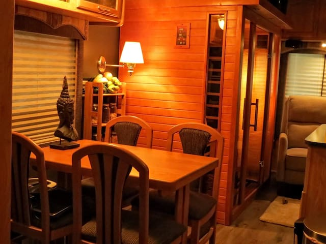 Dining Area and Infrared Sauna