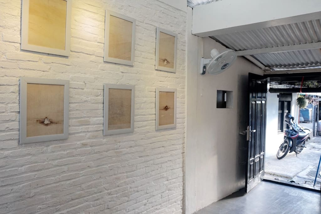 The small space for exhibition