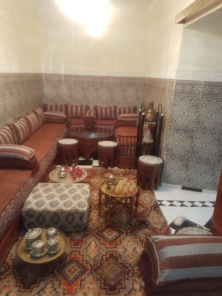 Riad au sein de l ancienne medina .