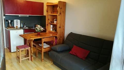 studio meublé situé plein Sud Col de l'Arzelier