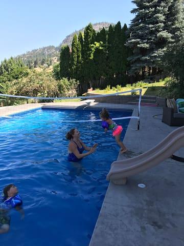 Heated pool fun!