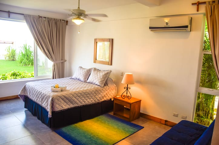 Beautiful Bedroom #1 with Amazing View – First Floor – Queen Bed – En-Suite Bathroom