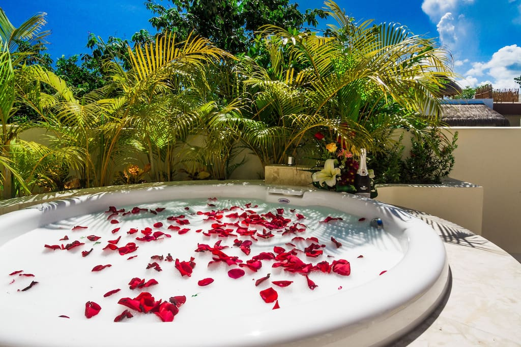 Romantic Evening Under the Stars in the Jacuzzi? Or Curl Up with a Book and Relax?
