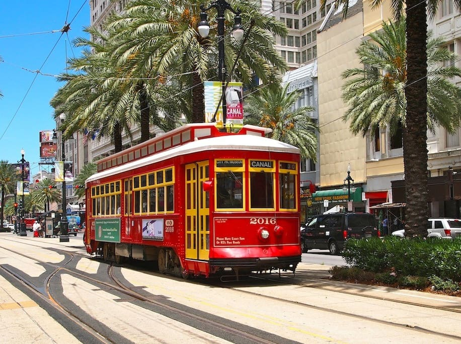 One block to the Canal Street trolley!