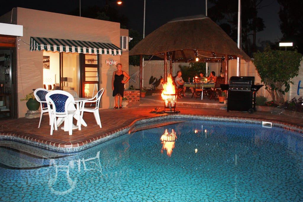 A braai around the pool