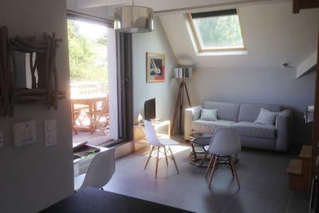 2 pièces duplex NEUF, terrasse, vue mer, 20m plage - Saint-Pierre-Quiberon - Apartment