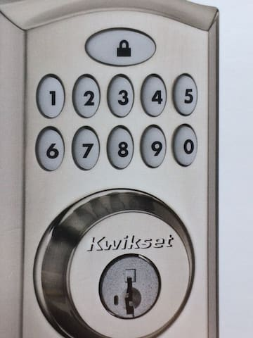Door access.  You will receive a code 1-2 days prior to your visit.  Simply enter the code on the keypad to enter the condo. To leave, just push the lock icon.