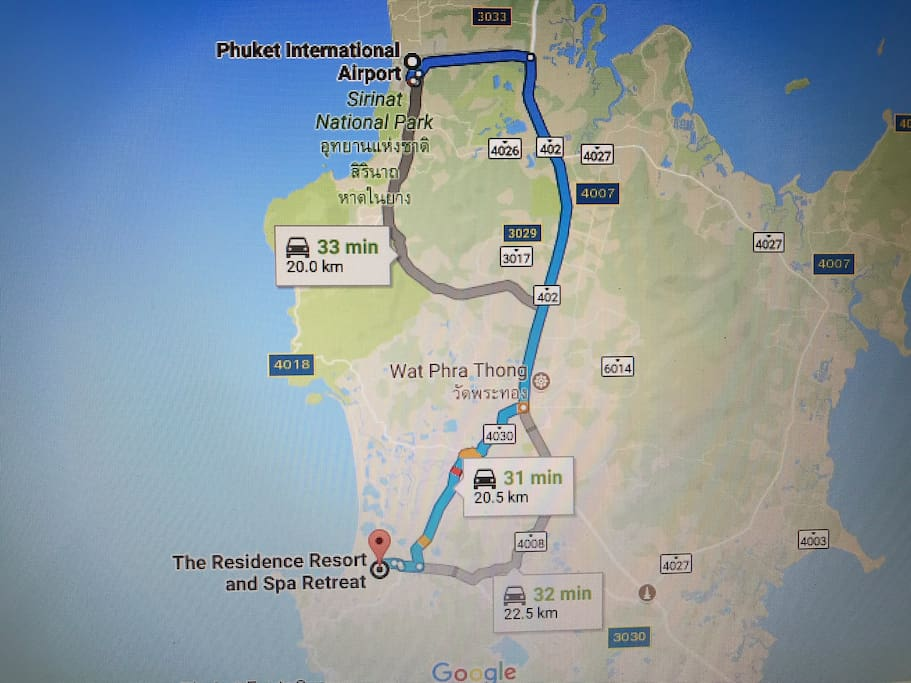 Just 25 mins from Airport to Villa Davrine at The Residence Resort