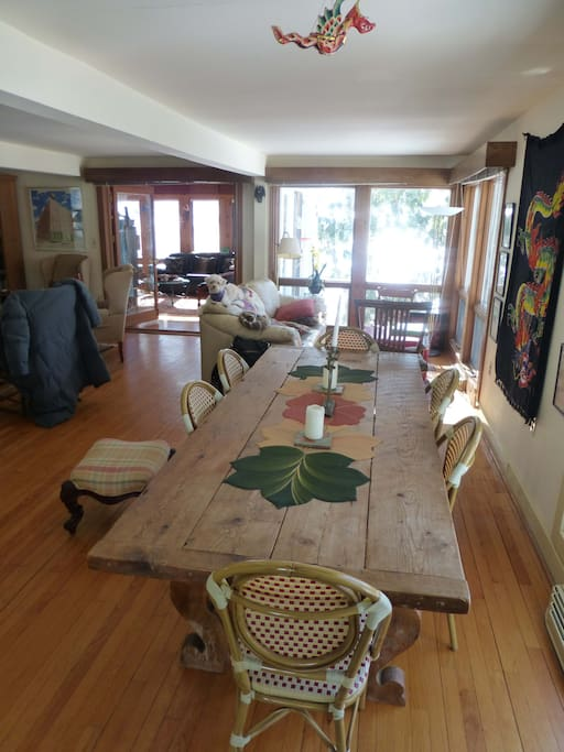 Entrance and dining room table
