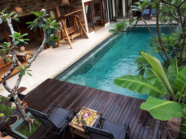 Aerial view of our private pool.