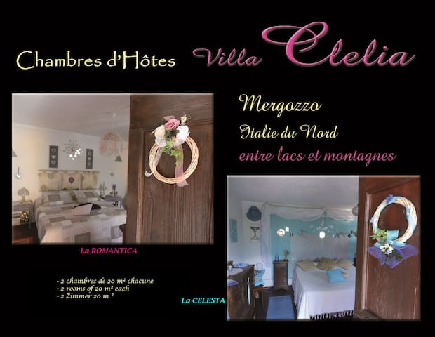 B&B villa Clelia Seen und Berge - Mergozzo - Szoba reggelivel
