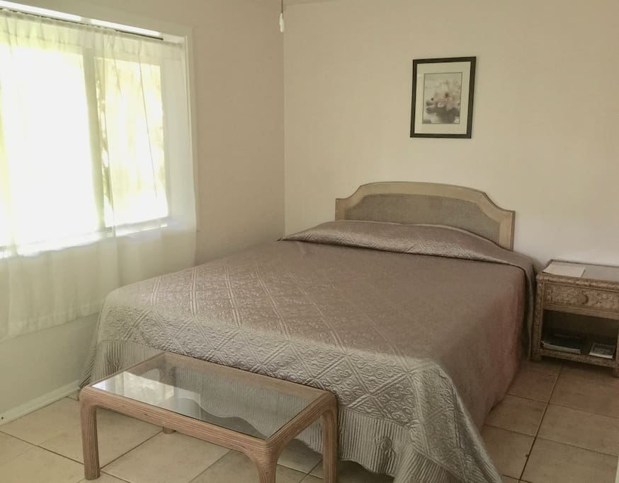 Master king suite - Peace and light in the serene garden bedroom