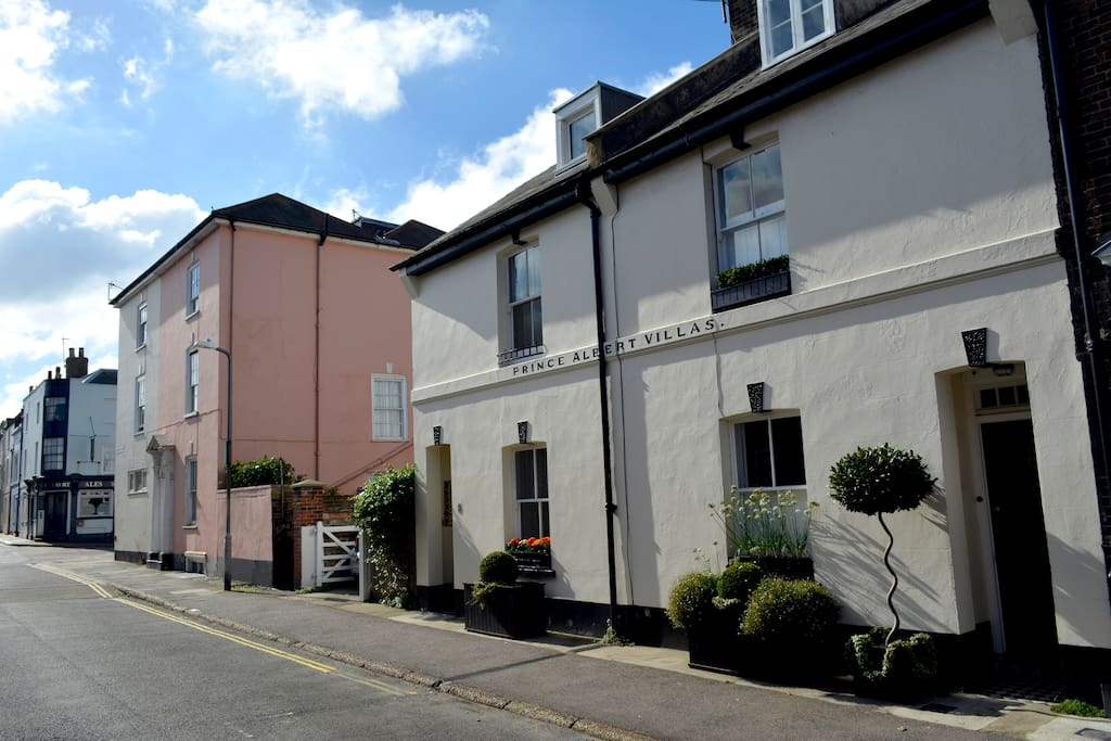 Beautiful bright and airy townhouse just 1 minute from the sea and 5 mins to Telegraph's high street of the year'