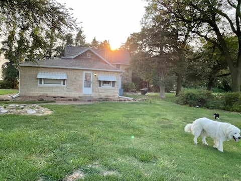 Limestone house in the country.  Hunting included