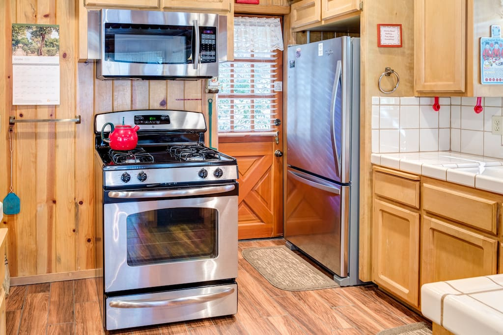 Stove, oven, and refrigerator