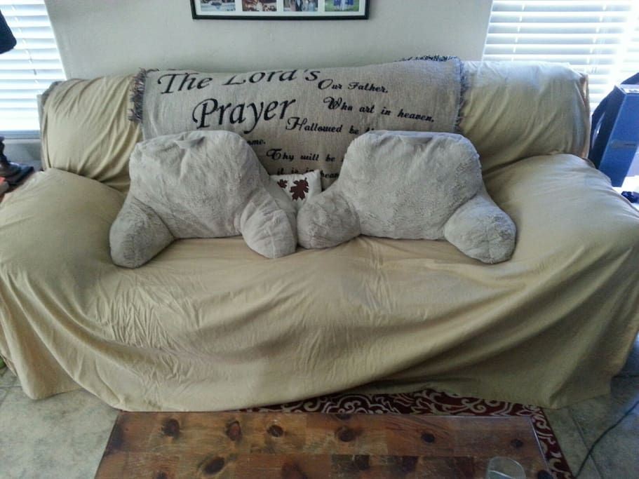 Couch in main room