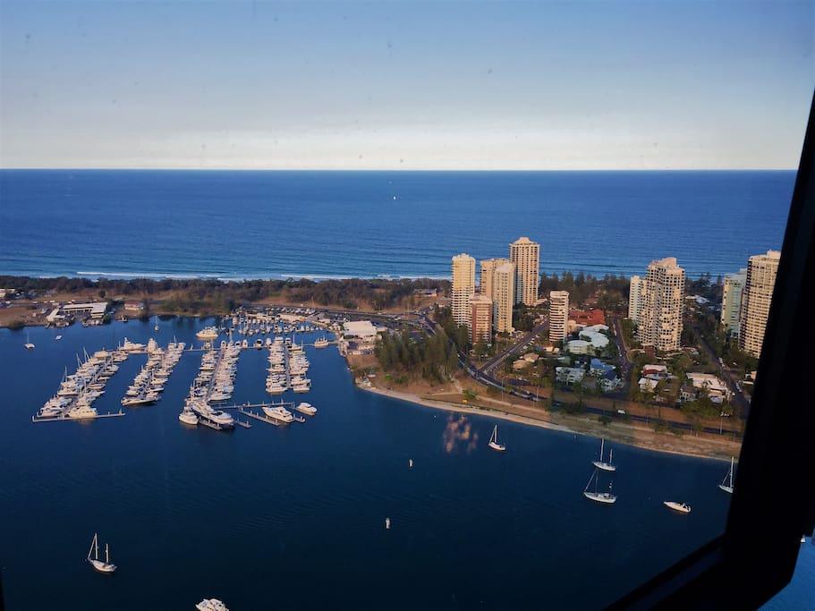 View from main living area down to Marina/Main Beach
