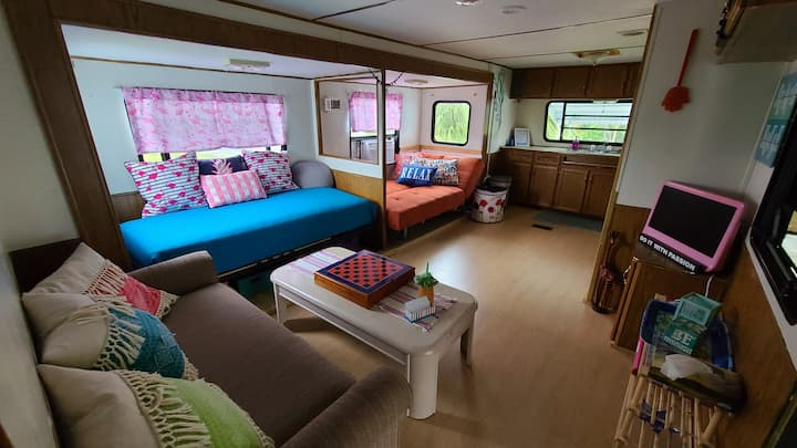The Mellow Glamper. RV in resort on Pine Island