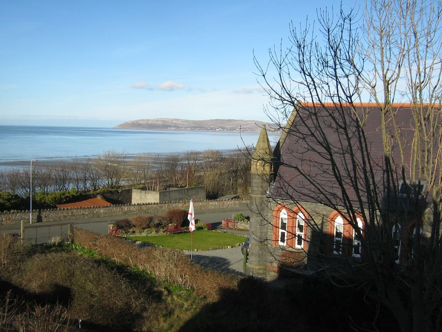 To the North-East you can see the Great Orme across the bay.