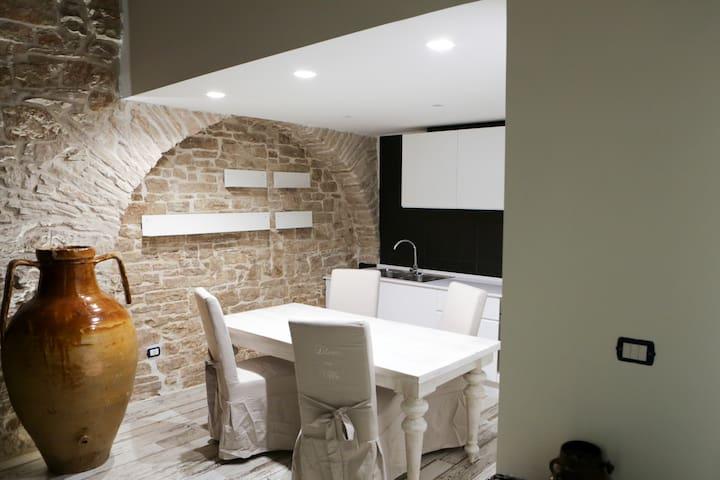 camera doppia in casa di pietra