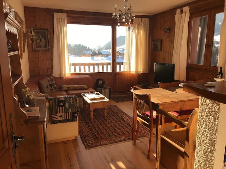 Cosy 2 bedroom apartment at the heart of Megève
