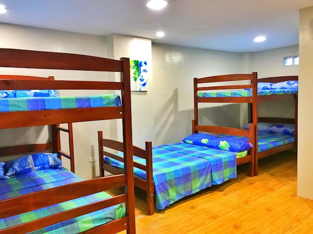 Elvis Presley Room 5 Beds, can fit 10 pax Space for extra mattress available
