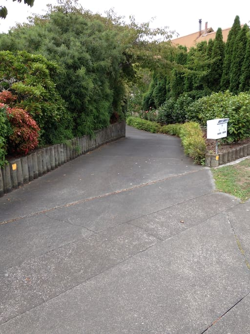 Short stroll down the access road from Duart Rd to the private apartment.
