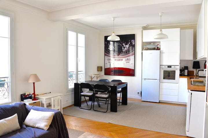 Light & Calm Renovated Paris flat-Ideal 4 families