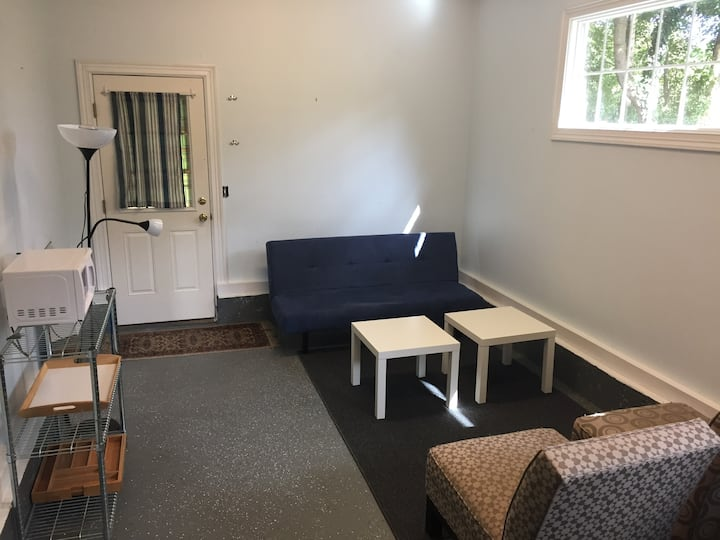 Spacious studio with private bath and entrance.