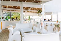 Our beach bar TOC (delicious breakfast, lunch, dinner available) + live events