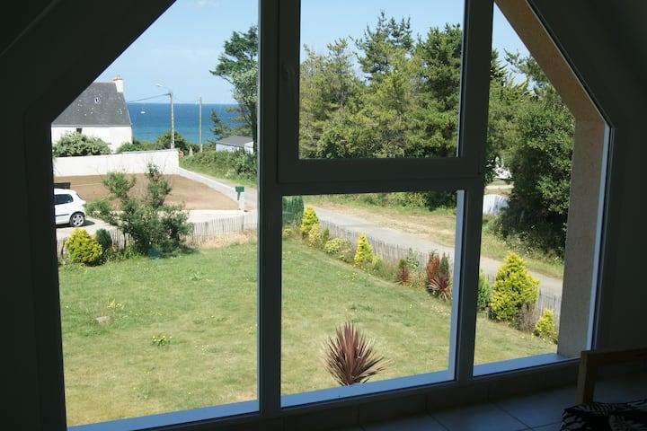 Maison vue mer et proche plage de Trez rouz
