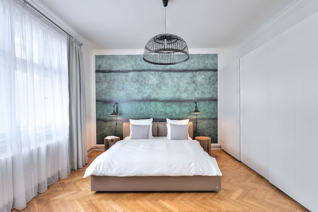 Calming bedroom inspired by nature