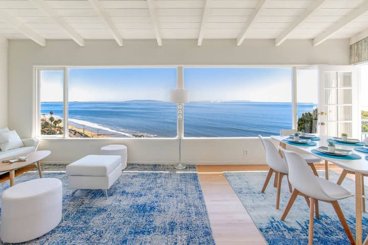 Panoramic ocean view, 5 BR, 6 min walk to beach