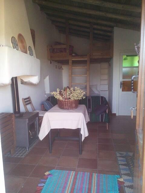 Casa Rural Camino Beturia  - Room and Kitchen