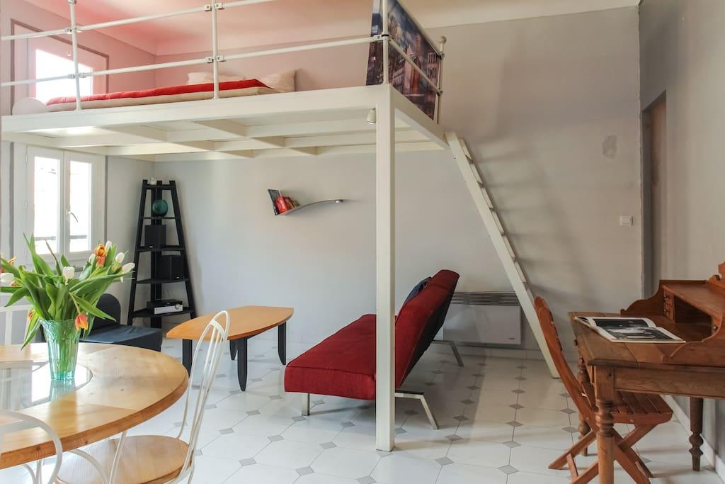 Vue mezzanine.