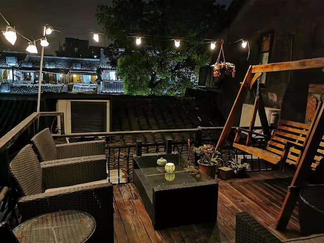 烟雨长廊/独立私享阳台观景房/带早餐