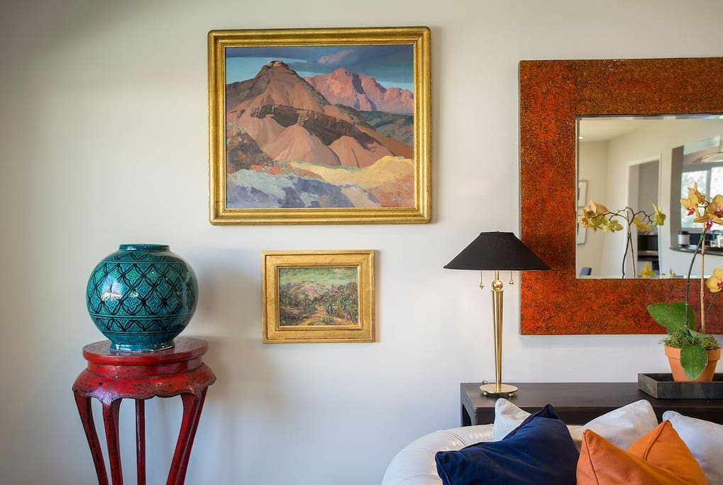 Landscape art throughout the home