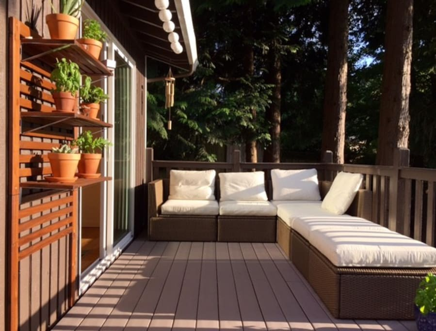 The deck out of the living room