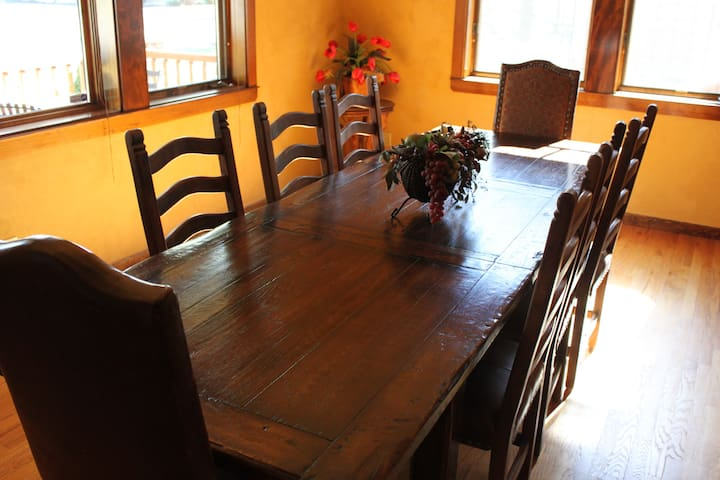 Dining room with 12 person table