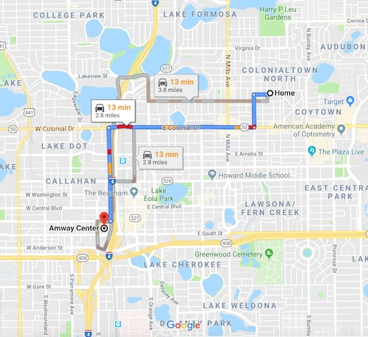 Distance to Amway Center
