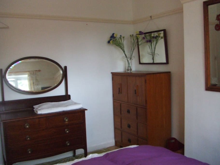 Very comfortable, south facing bedroom.