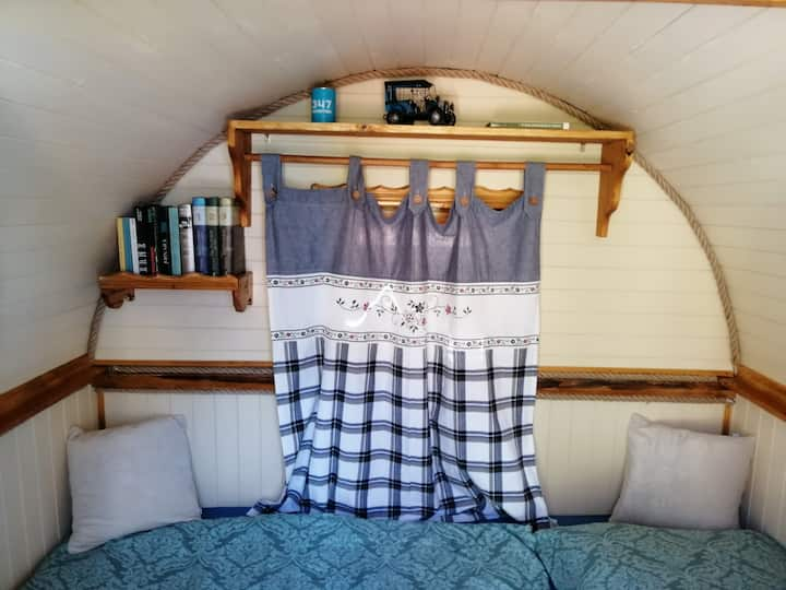 Cozy wagon on the farm