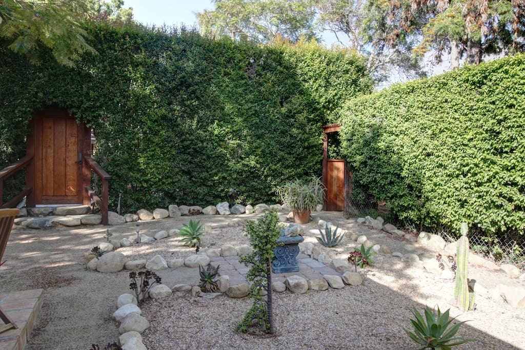 Sculptural elements in the yard